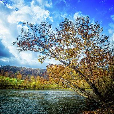 Photograph - New River In Fall by Joe Shrader