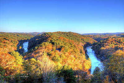Photograph - New River Oxbow by Dale R Carlson