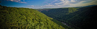Photograph - New River Panoramic by Daniel Houghton