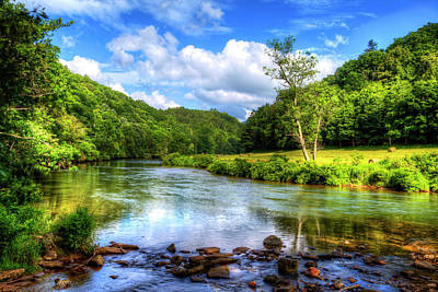 New River Summer Art Print by Dale R Carlson