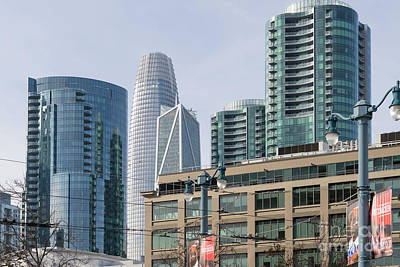 Photograph - New San Francisco Skyline With Tallest Sf Building Salesforce Tower Transbay Tower Dsc5753 by San Francisco Art and Photography