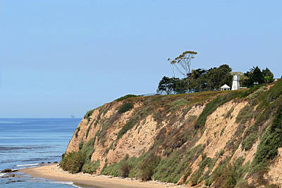 New Santa Barbara Lighthouse - Santa Barbara Ca Art Print