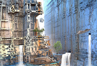 Digital Art - New Settlement by Hal Tenny