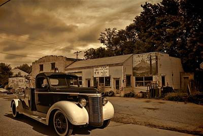 Photograph - New Shop Tow Truck by Tim McCullough