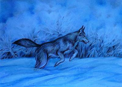 Drawing - New Snow by Anna Duyunova