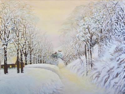 New Snow In Hunting Hills Art Print by Douglas Ann Slusher