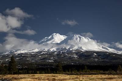 Mt Shasta Photograph - New Snow by Marnie Patchett