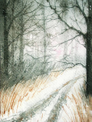 Painting - New Snow by Rebecca Davis