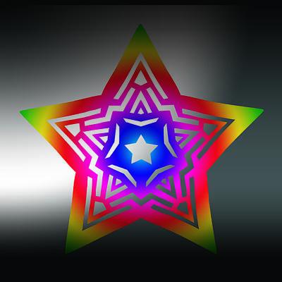 Digital Art - New Star 1b by Eric Edelman