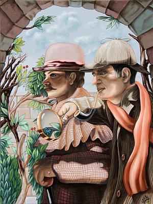New Story By Sir Arthur Conan Doyle About Sherlock Holmes Art Print