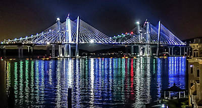 Photograph - New Tappan Zee Bridge Colors by Jeffrey Friedkin