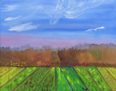 Painting - Eagle Cloud Soaring by Meryl Goudey