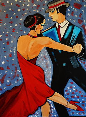 Painting - New Two To Tango by Nora Shepley