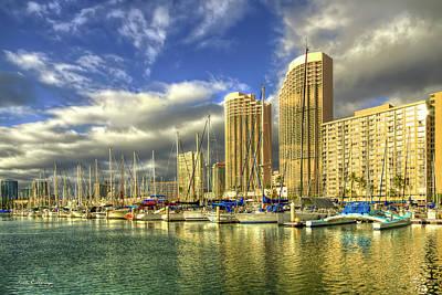 Photograph - Ala Wai Harbor Waikiki Yacht Club Honolulu Hawaii Collection Art by Reid Callaway