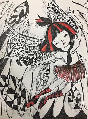 Drawing - Angel's Dance by Angela Lao