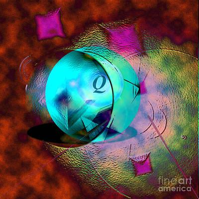 Digital Art - Q-ball by Dan Sheldon