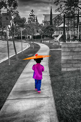 Gia Walk To Playground Art Print by Joseph Hollingsworth