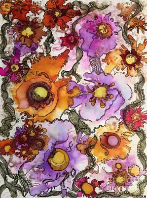 Tangerines Drawing - It Makes Me Smile by Kathleen Hunt