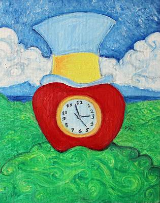 Integral Painting - Sir Apple Clock by Sam Pako