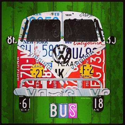 Vintage Photograph - New #vw License Plate Art Series Out On by Design Turnpike