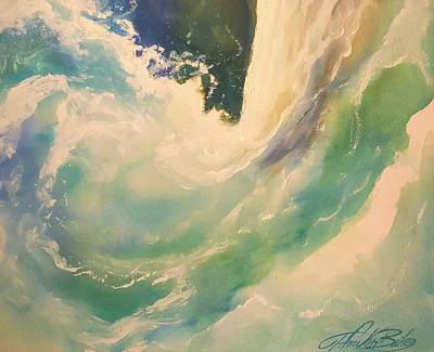 Painting - New Wave   - The Surge by Therese Fowler-Bailey