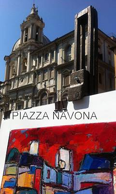 Painting - new work Piazza Navona by Len Yurovsky
