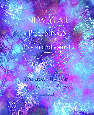 Painting - New Year Blessings by Hazel Holland