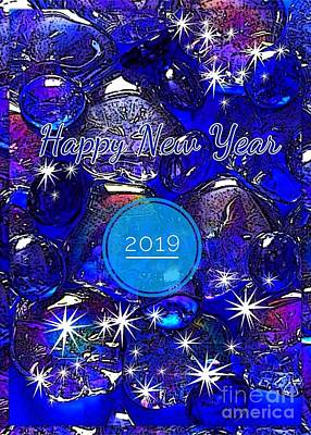 Photograph - New Year Blue Sparkle by Joan-Violet Stretch