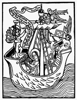 New Year Card, 1450 Art Print