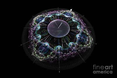Absract Digital Art - New Year Countdown by Ann Garrett
