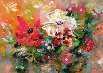 Painting - New Year Flowers by Miki De Goodaboom