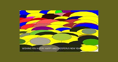 Digital Art - New Year Greeting-2 by Anand Swaroop Manchiraju