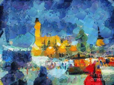 Mixed Media - new year in Riga by Yury Bashkin