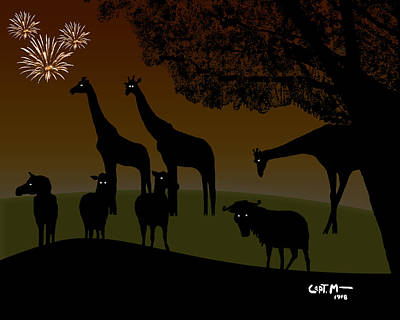 Digital Art - New Year On The African Veldt by Mickey Wright