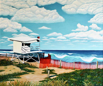 Painting - New Years Day At Turtle Beach by Kim W Nolan