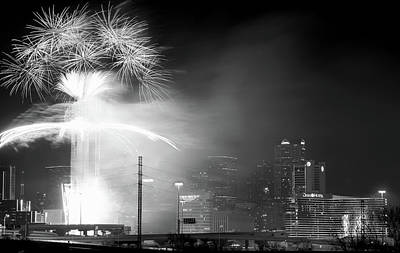 Photograph - New Years Eve 2018 Dallas Texas by Rospotte Photography