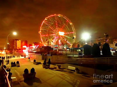 Photograph - New Years Eve The Wonder Wheel by Ed Weidman