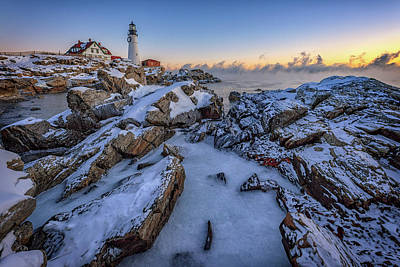 Photograph - New Year's Morning At Portland Head Lighthouse by Rick Berk