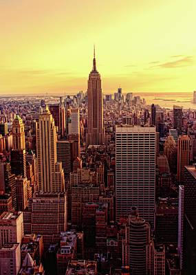 Building Exterior Photograph - New York - Magic Hour At Top Of Rock by Matt Pasant