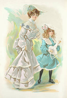 Drawing - New York 1904 Fashion Art 1 by Movie Poster Prints