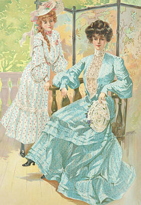 Drawing - New York 1904 Fashion Art 2 by Movie Poster Prints