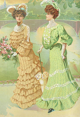 Drawing - New York 1904 Fashion Art 4 by Movie Poster Prints
