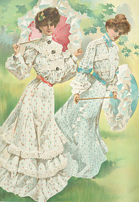 Drawing - New York 1904 Fashion Art 5 by Movie Poster Prints
