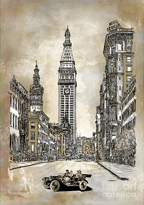 New York 1910 Art Print