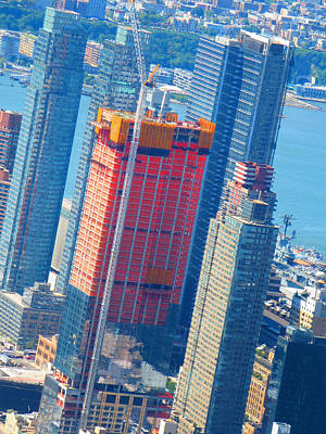 Painting - New York 360 Degrees Views From Top Of Empire State Building By Navinjoshi Fineartamerica by Navin Joshi