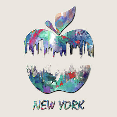 San Francisco Landmarks Digital Art - new York apple  by Mark Ashkenazi