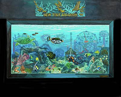 New York Aquarium Art Print