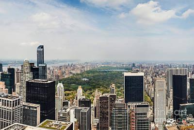 New York City Skyline Digital Art - Central Park View Circagraph by Az Jackson