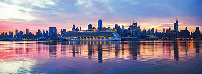 Hudson Photograph - New York At Dawn by Bill Cannon