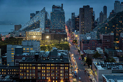 Photograph - New York At Night by Fran Gallogly